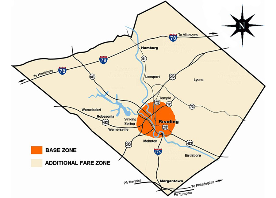 Norristown Pa Zip Code Map.Transit Maps Barta Reading Pa
